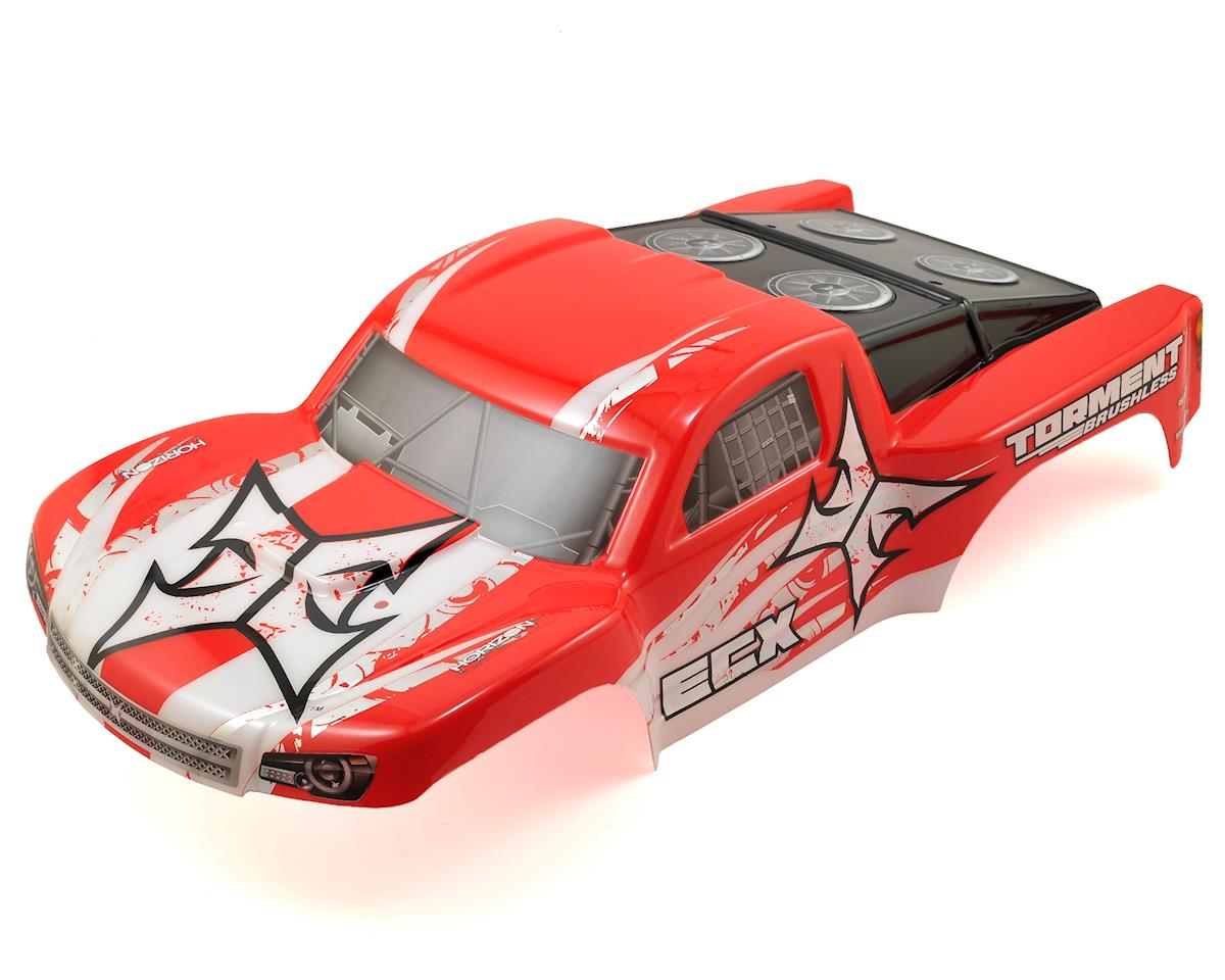 ECX Torment 1/10 2WD/4WD Pre-Painted Short Course Truck Body (Red/White)