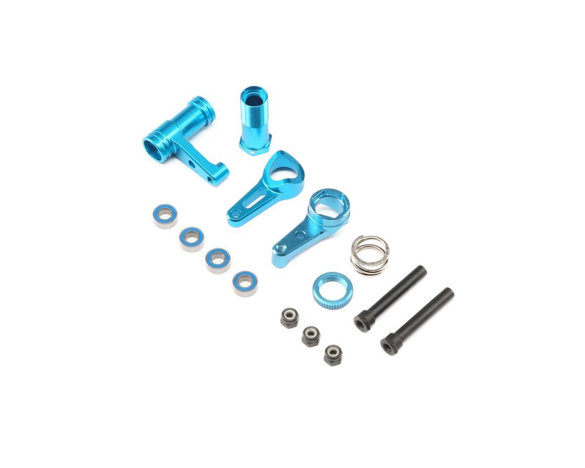 ECX Steering w/Servo Saver, Aluminum: 1:10 4WD ALL
