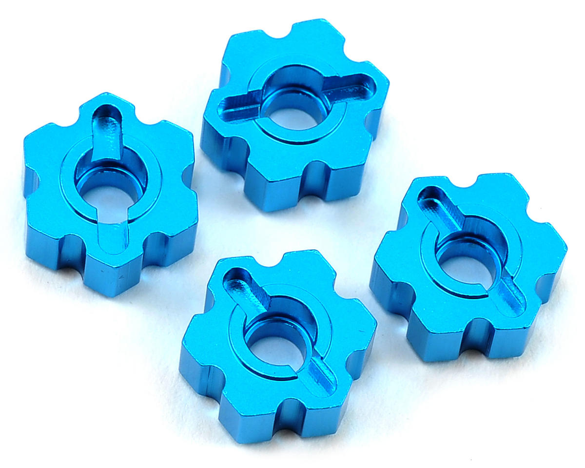 ECX Circuit Aluminum Wheel Hex Set (Blue)
