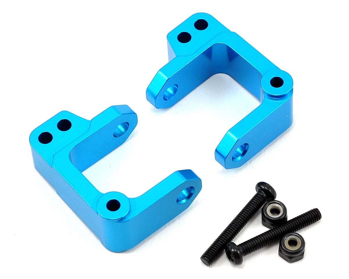 Aluminum Caster Block Set (Blue) by ECX