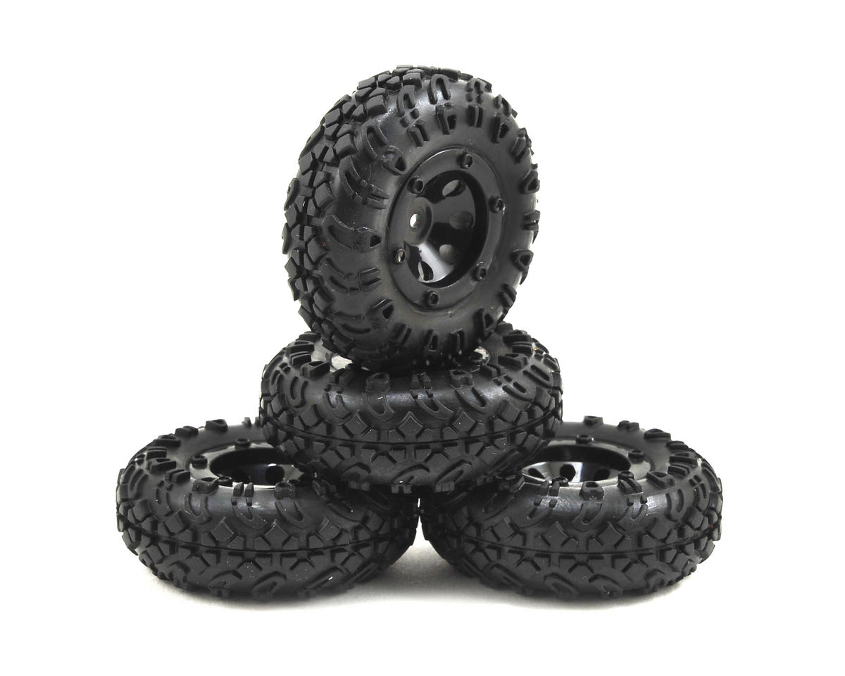 ECX Temper 1/24 Premounted Tire Set (4)