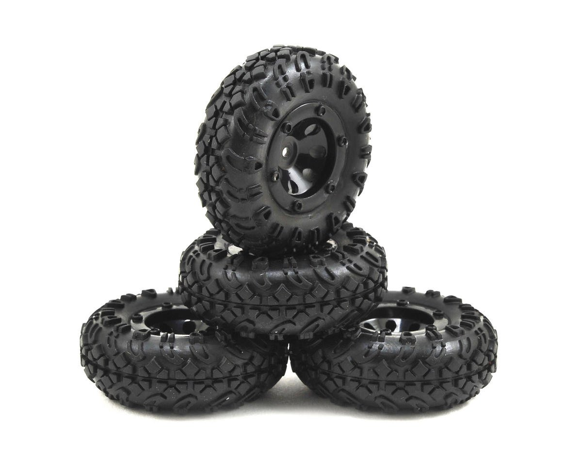 Temper 1/24 Premounted Tire Set (4) by ECX