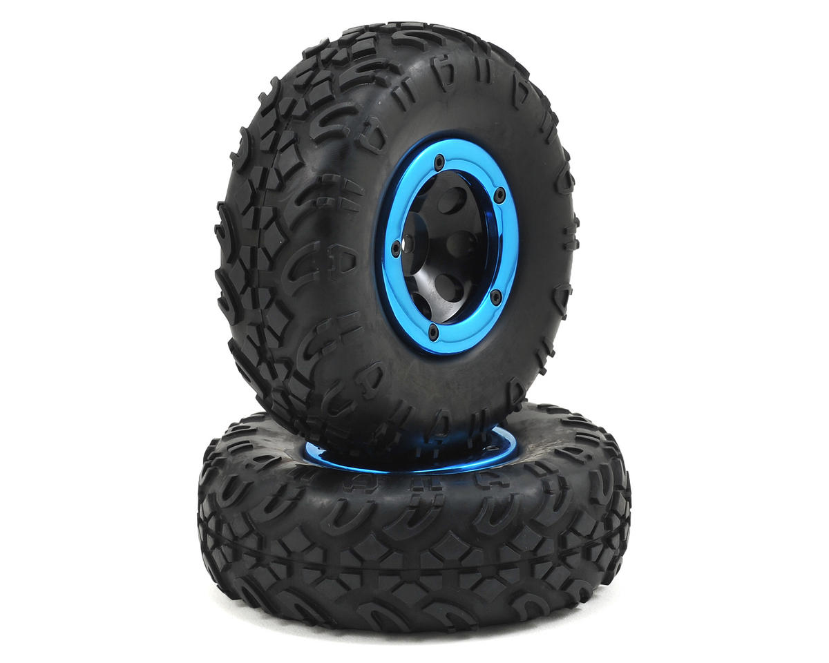 ECX 1/18 Temper Beadlock Pre-Mounted Tire (2)