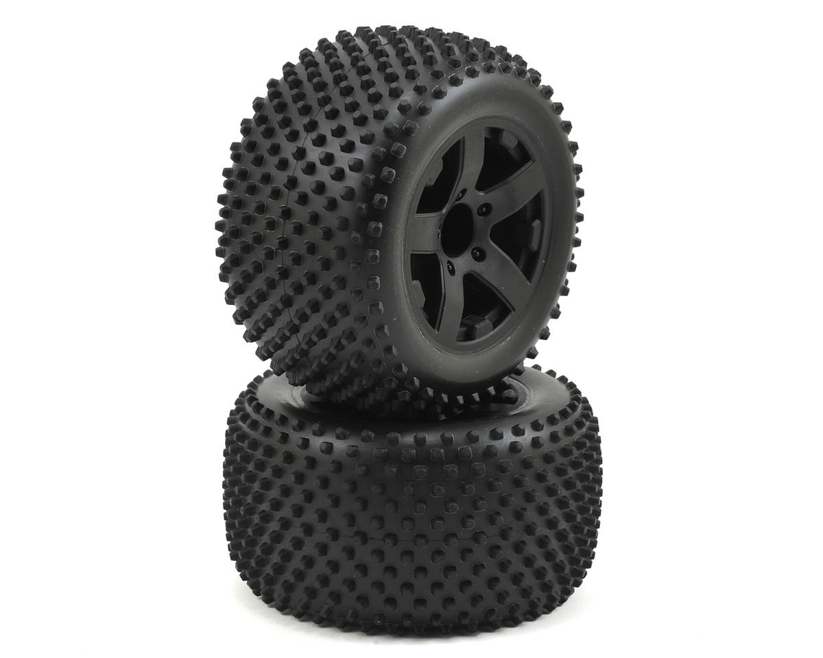 ECX Circuit Rear Premounted Tires (Black) (2)