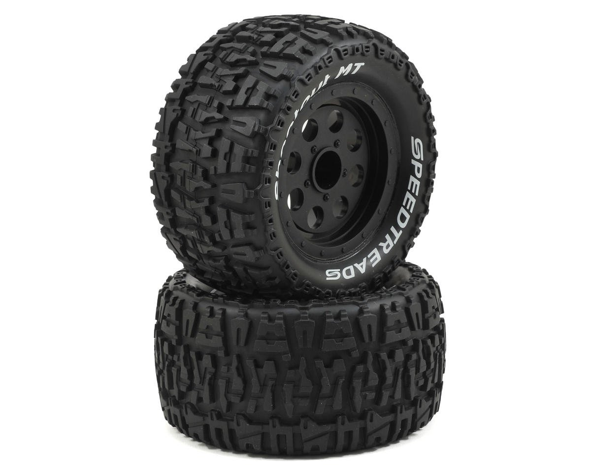 ECX Ruckus Front/Rear Premounted Tire (Black) (2)