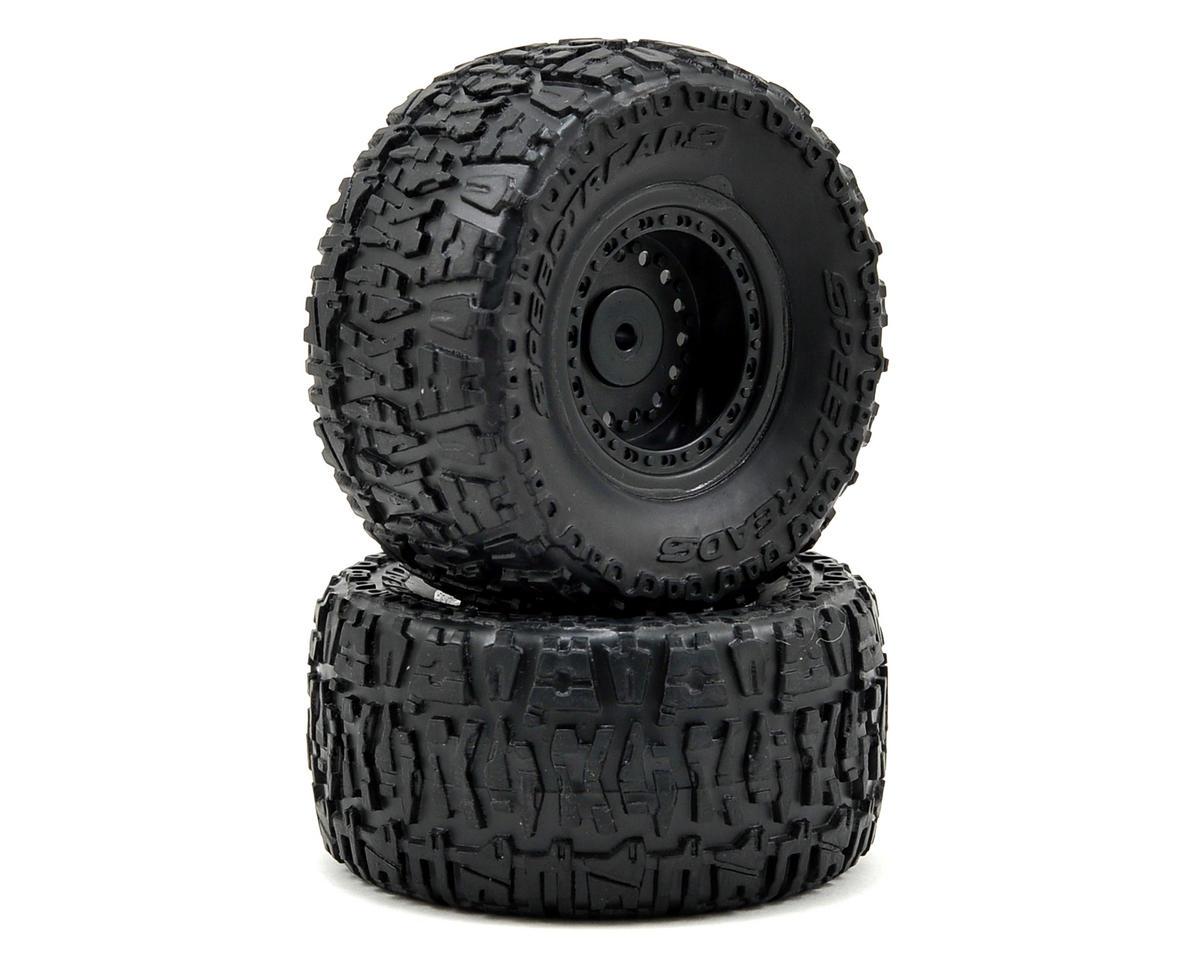 ECX RC Pre-Mount Rear Tire Set (2)