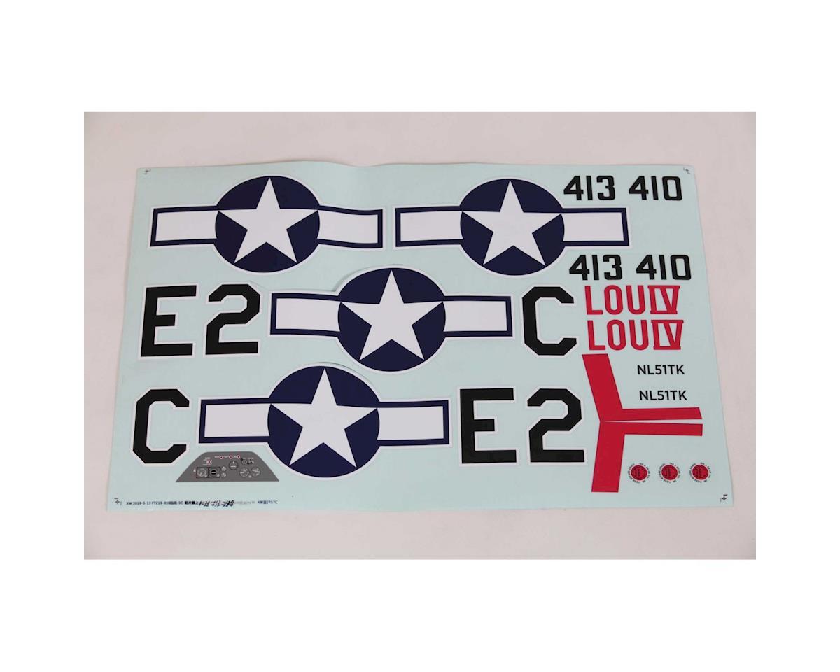 E-flite P-51D Mustang 1.5m Decal Set