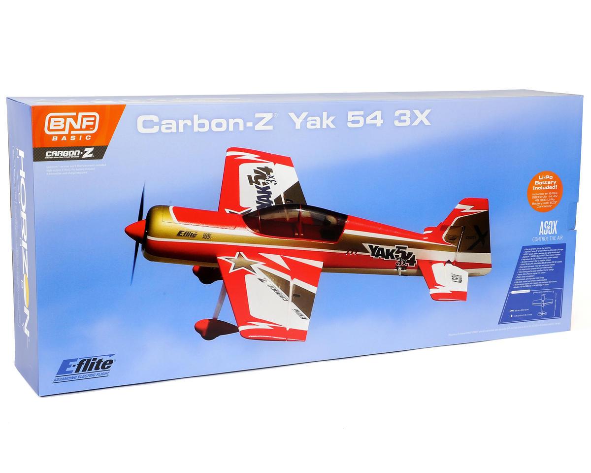 E-flite Carbon-Z Yak 54 3X Bind-N-Fly Basic Electric Airplane