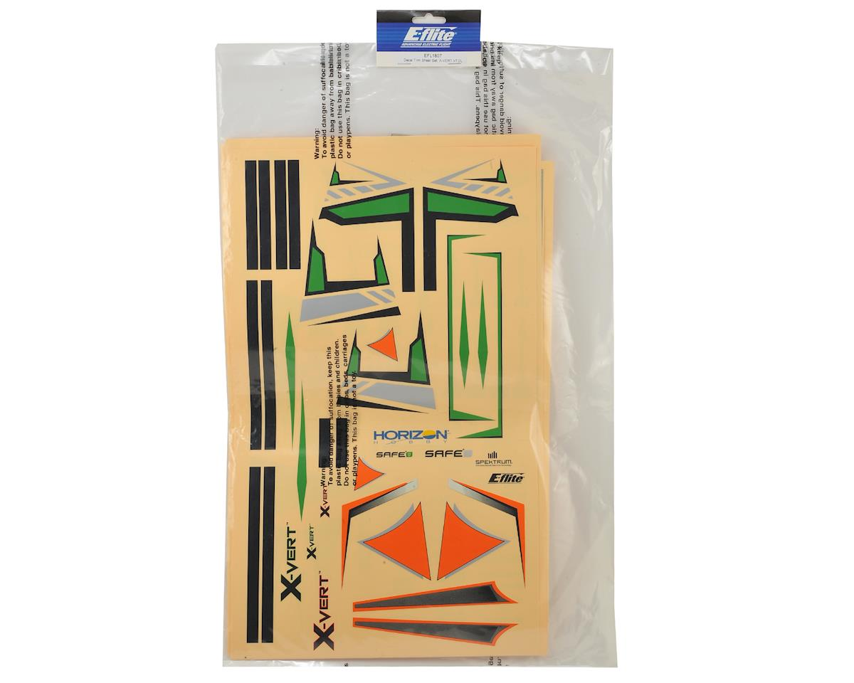 E-flite X-Vert VTOL Decal Trim Sheet Set