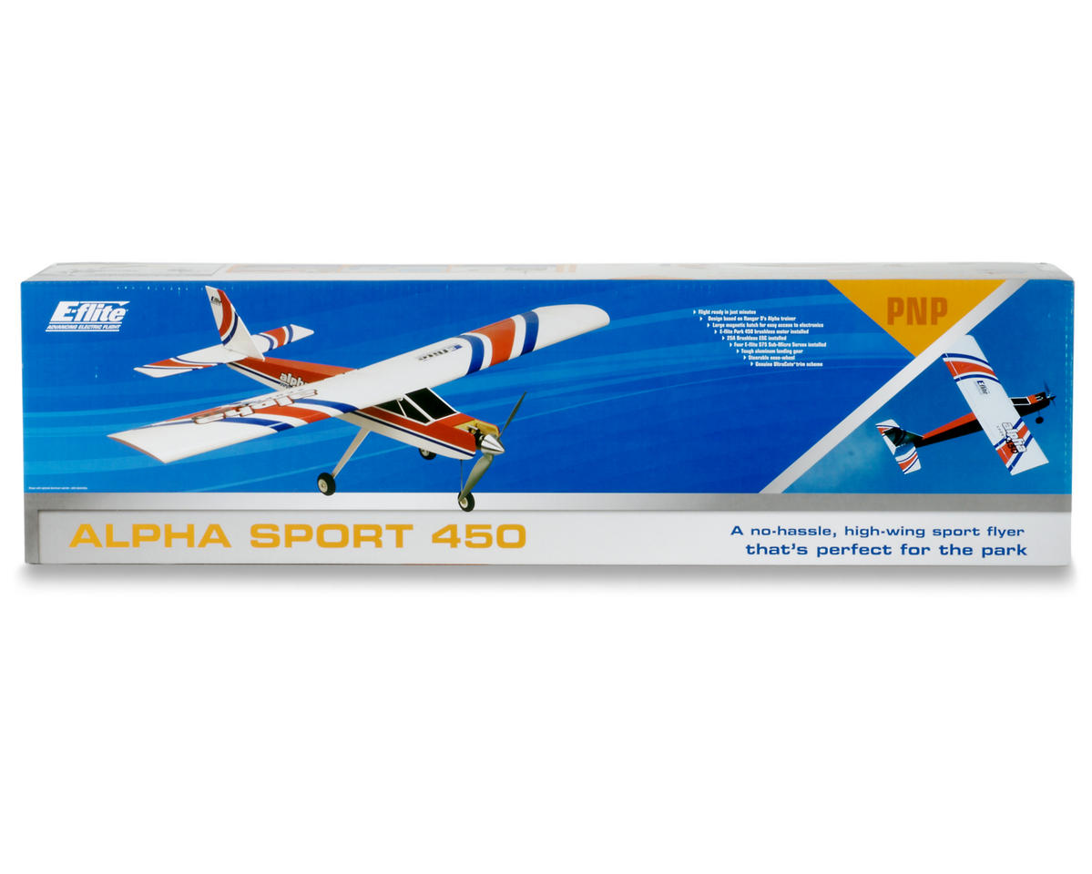 E-flite Alpha 450 Electric Sport Plane PNP (Plug-N-Play)