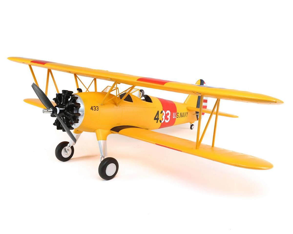 PT-17 1.1m Bind-N-Fly Basic Electric Biplane Airplane by E-flite