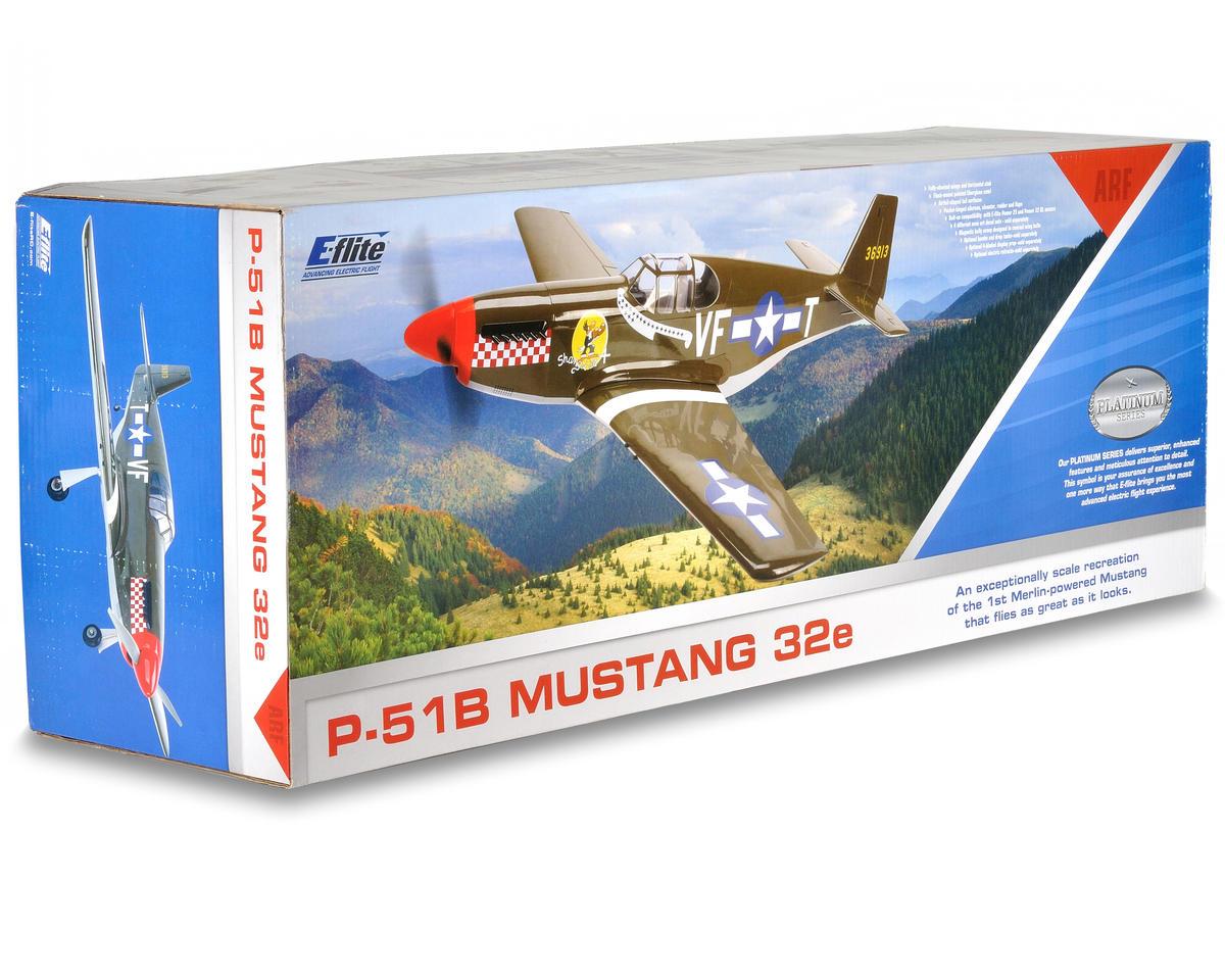 E Flite P 51b Mustang 32e Arf Efl4575 Airplanes
