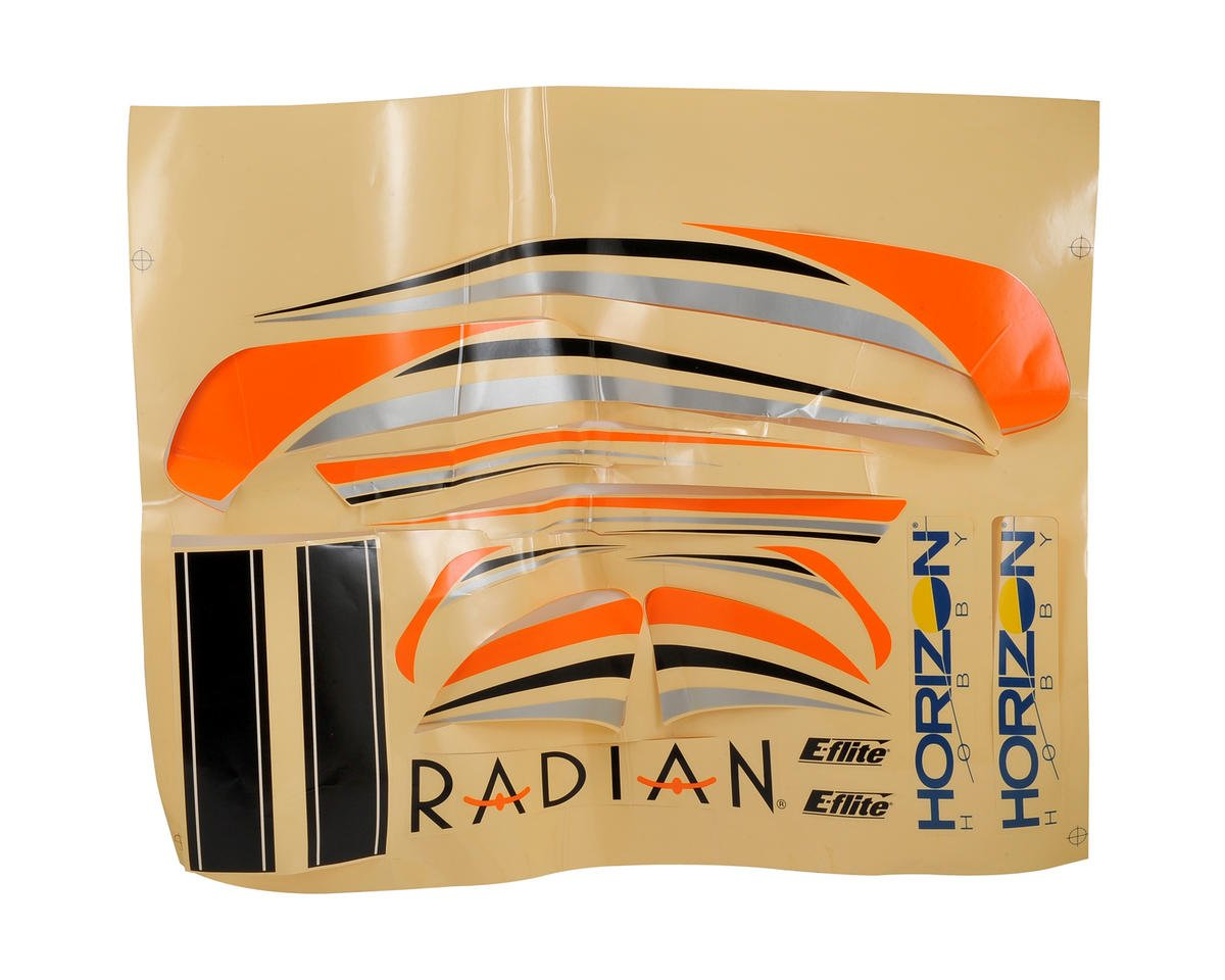 E-flite Radian Decal Sheet