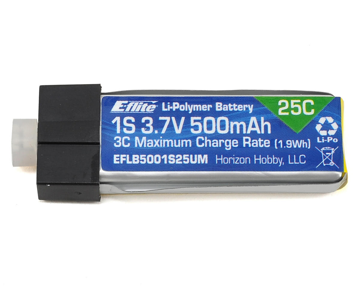 E-flite 1S 25C High Current LiPo Battery Pack w/UMX Connector (3.7V/500mAh) (Blade 120 S)