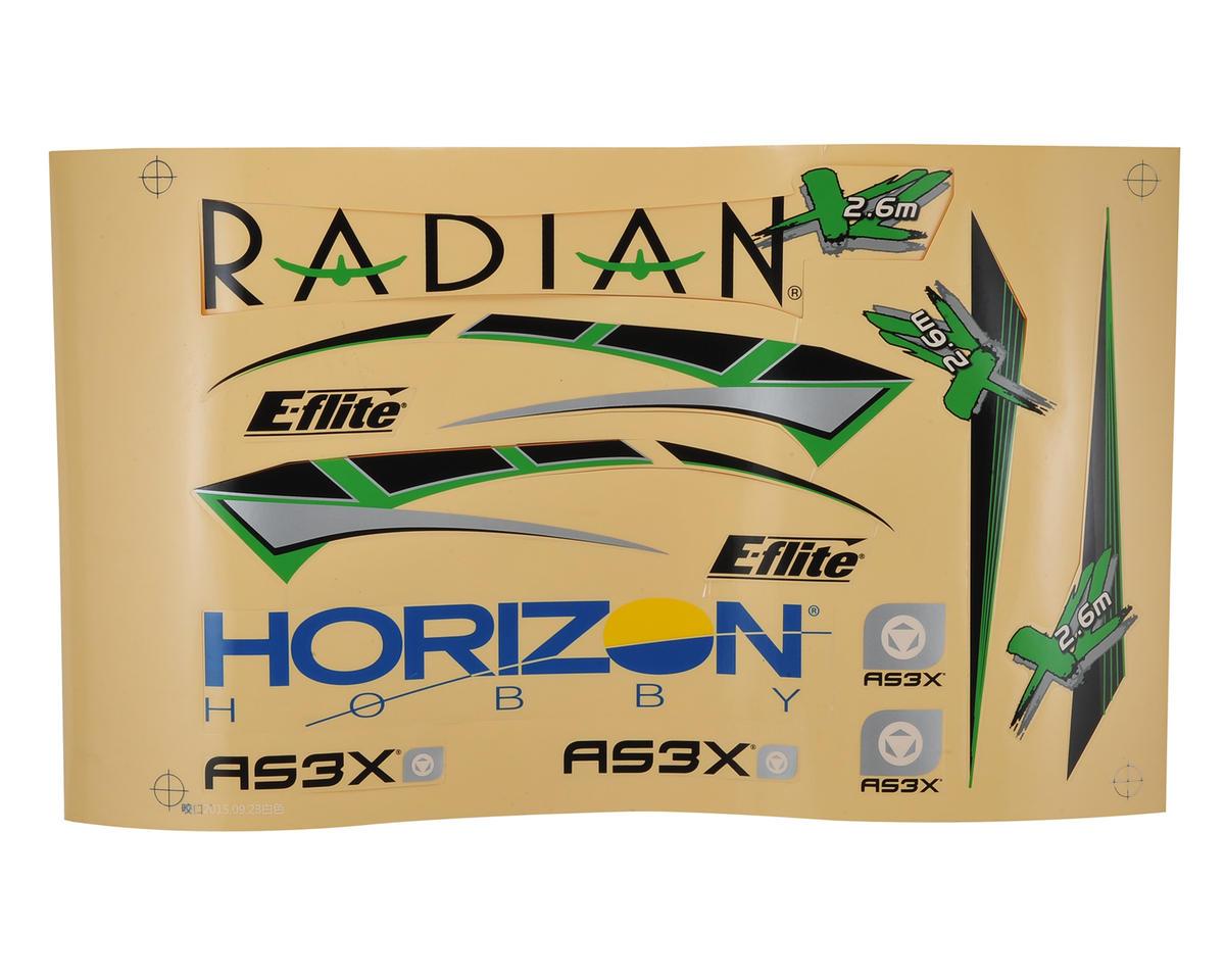 Radian XL Decal Sheet by E-flite