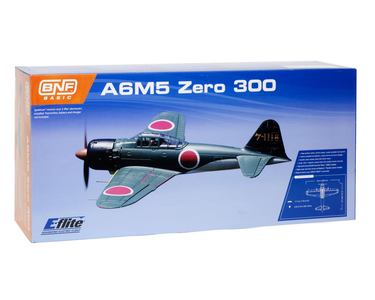 E-flite A6M5 Zero 300 Micro Bind-N-Fly Basic Electric Airplane