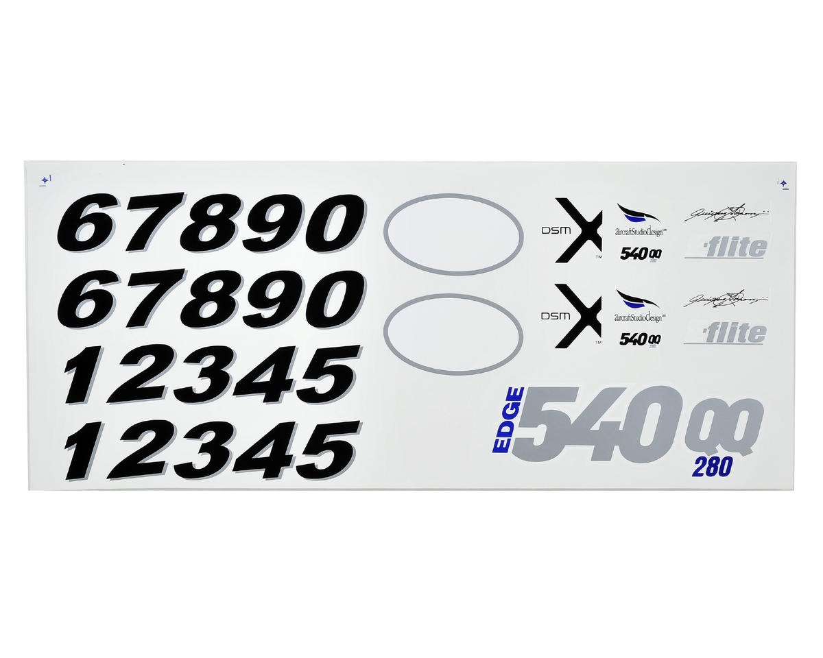 E-flite Edge 540QQ Decal Set