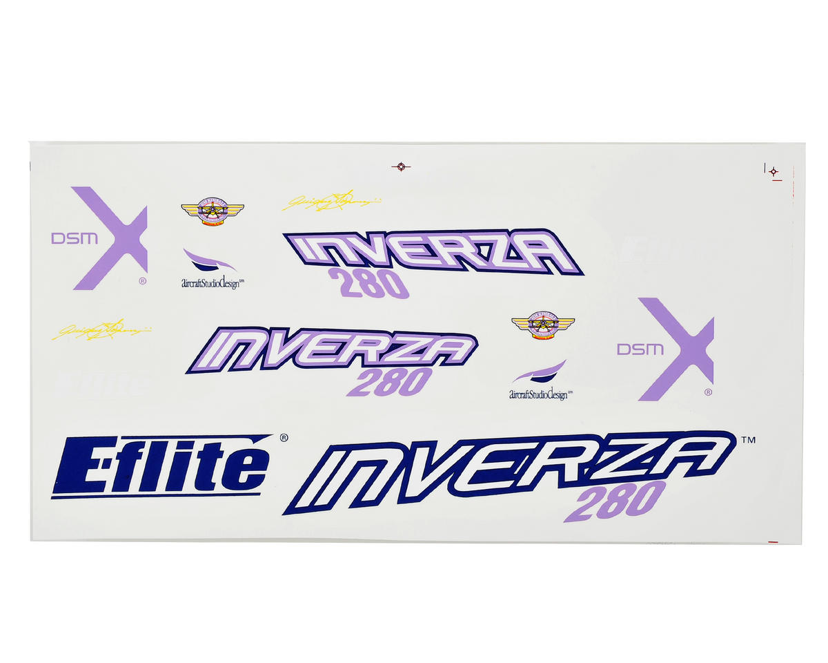 E-flite Inverza 280 Decal Set
