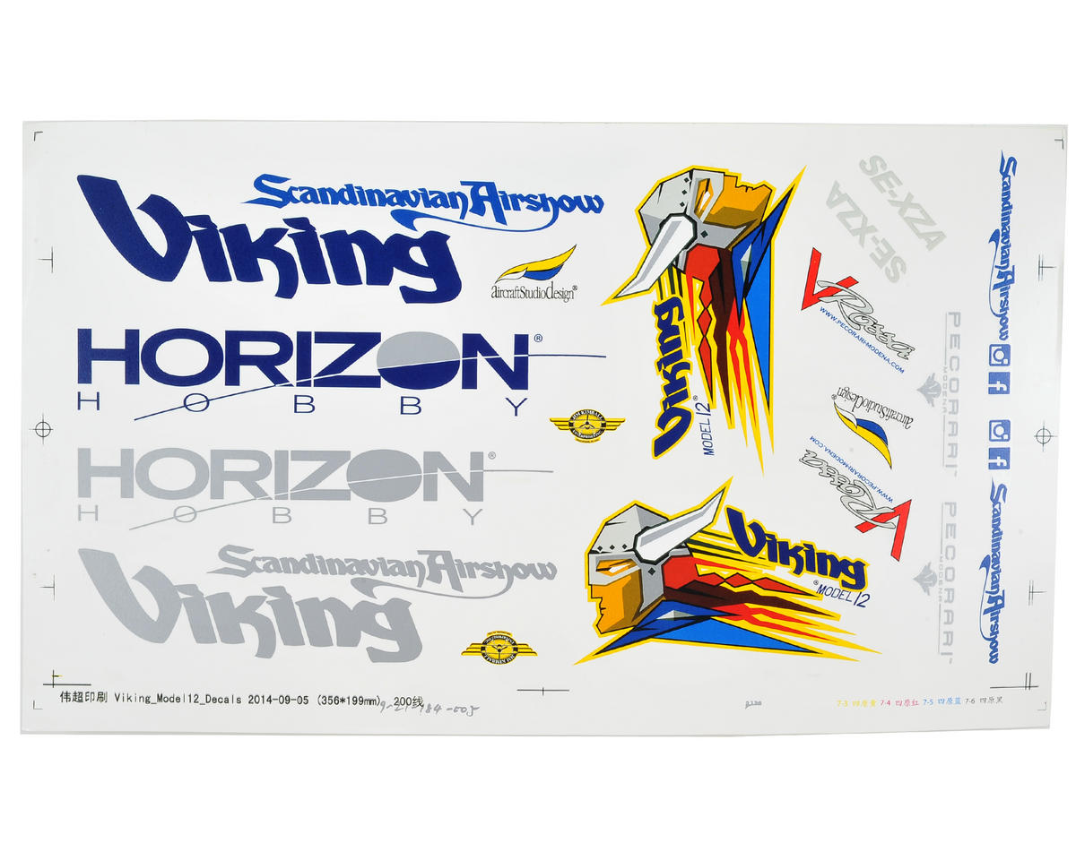 E-flite Viking Model 12 Decal Set