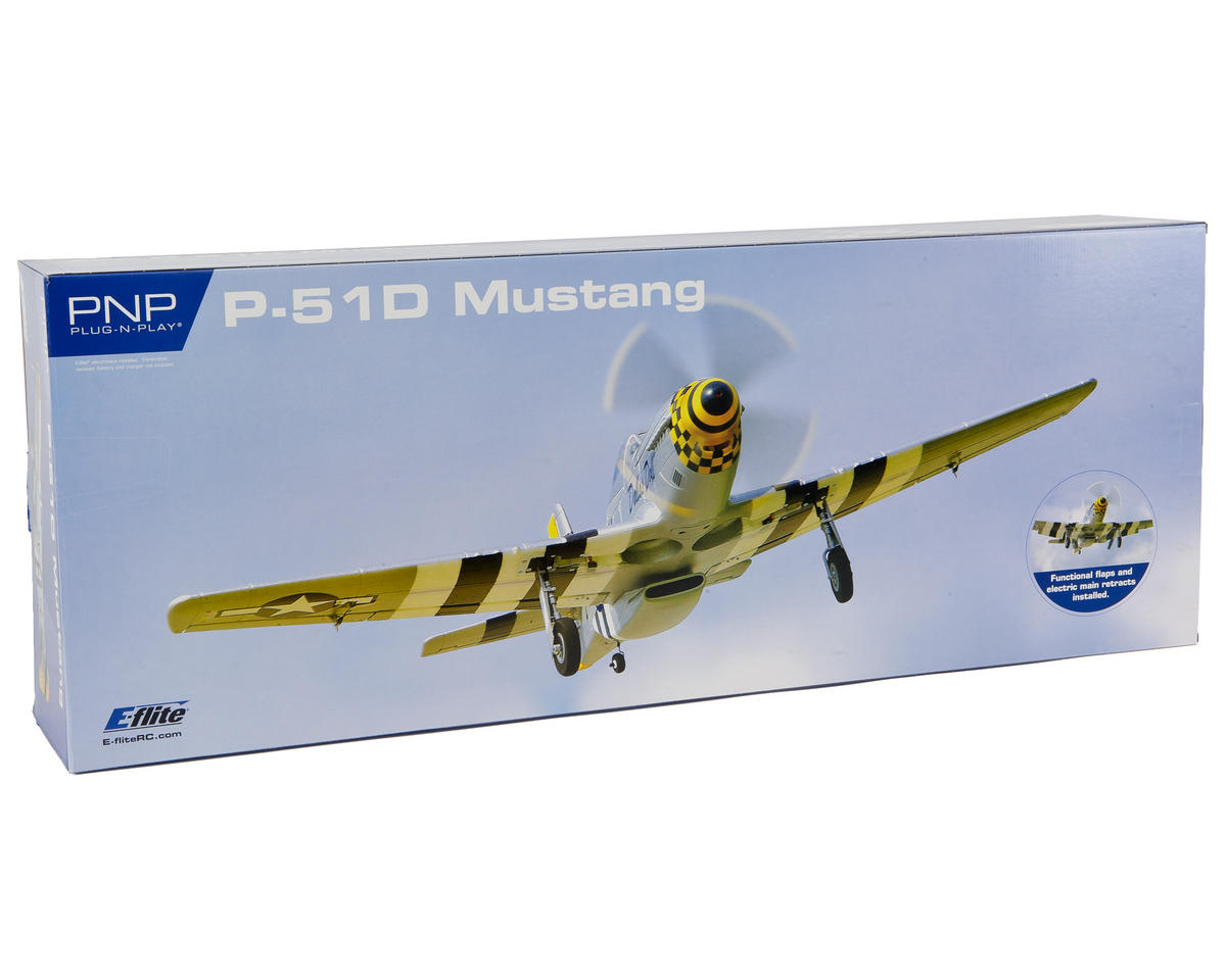 E-flite P-51D Mustang Plug-N-Play Electric Airplane