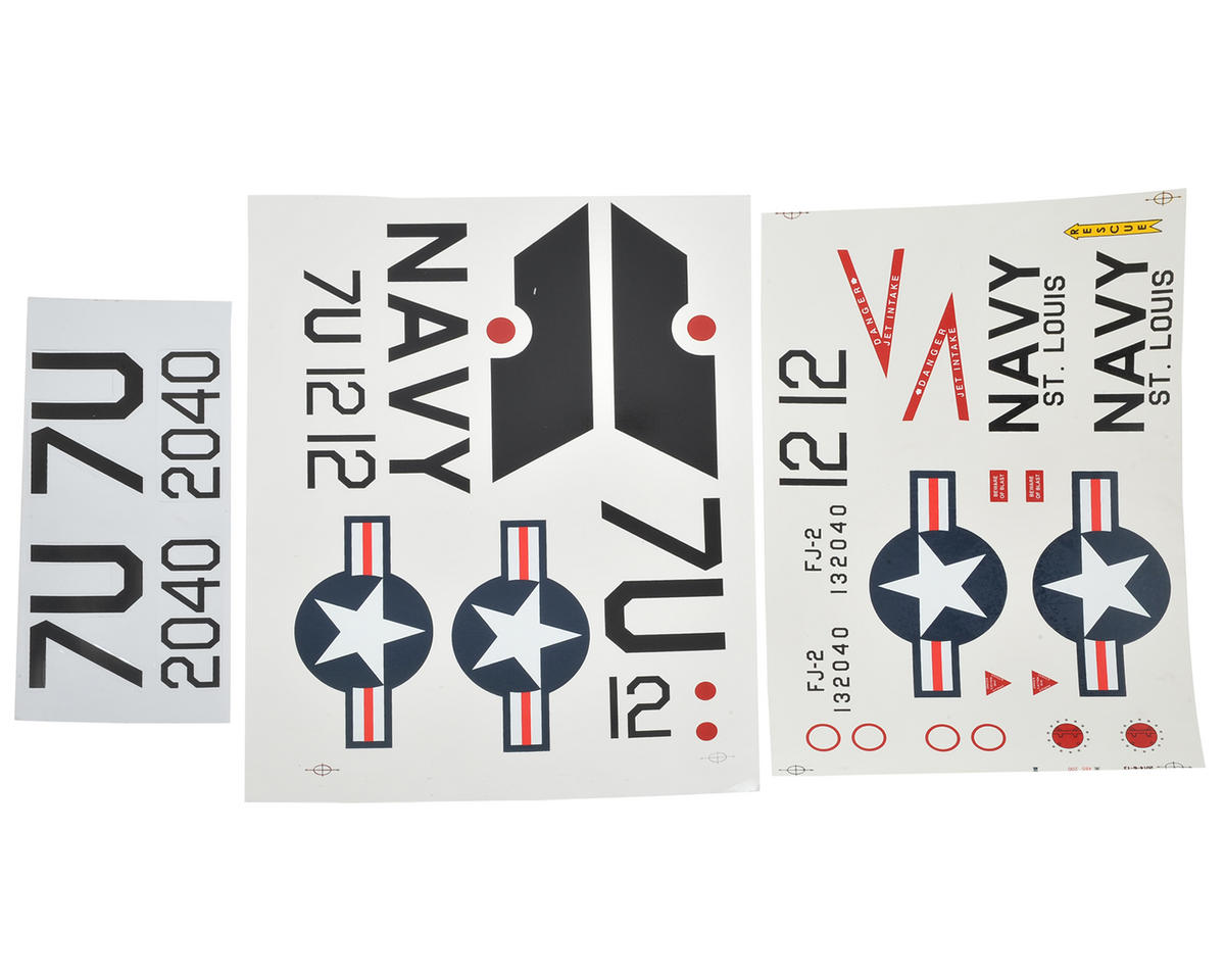E-flite FJ-2 Fury 15 DF Decal Set