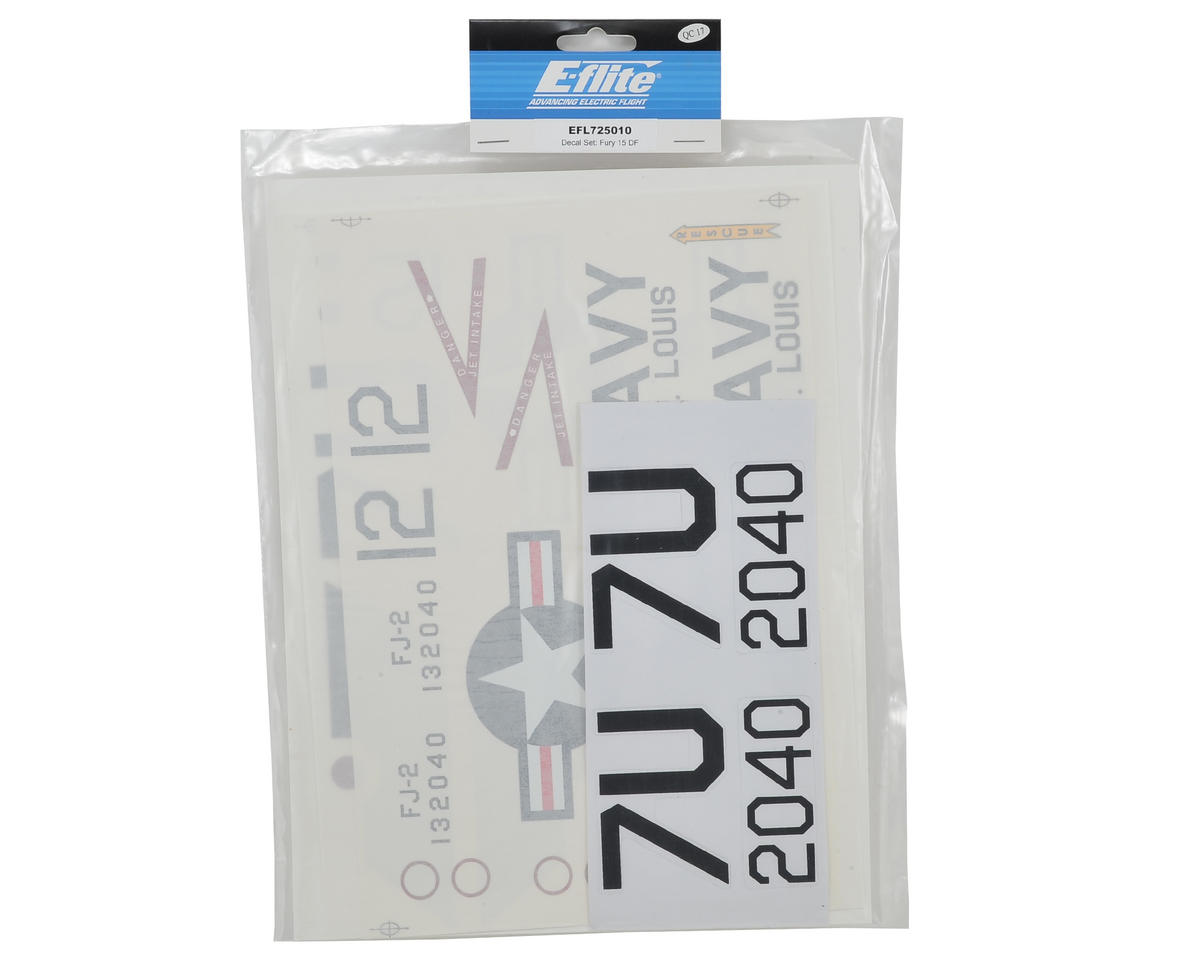 E-flite FJ-2 Fury 15 Decal Set