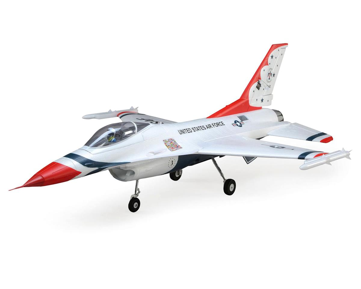 E-flite F-16 Thunderbirds 70mm EDF BNF Basic Electric Ducted Fan Jet Airplane