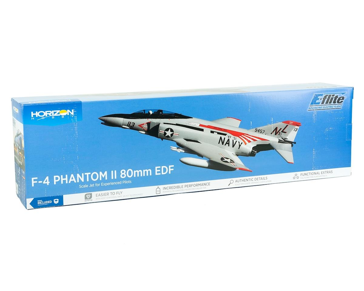 E-flite F-4 Phantom II 80mm BNF Basic Electric Ducted Fan Jet Airplane (910mm)