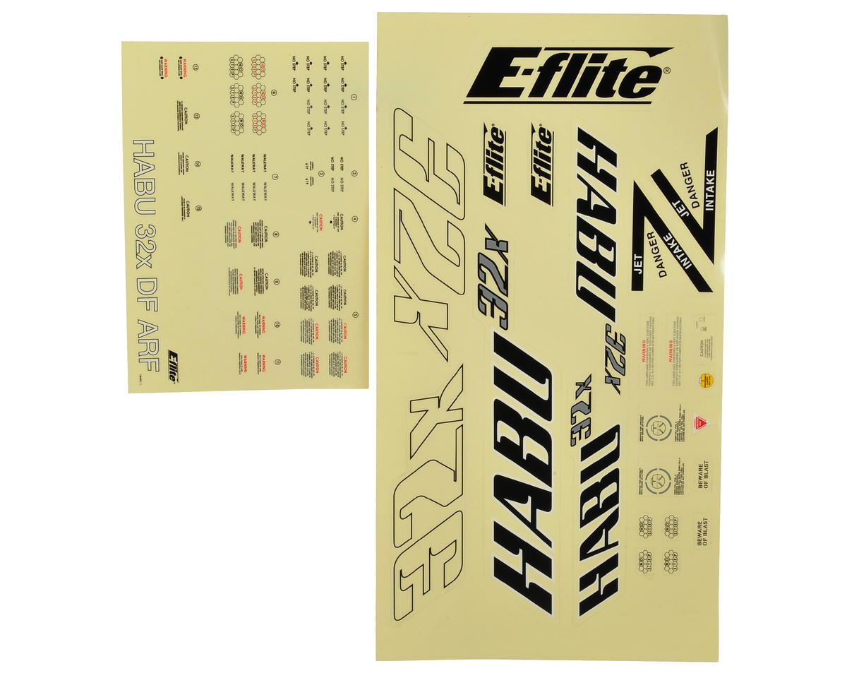 E-flite Habu 32x DF Decal Sheet