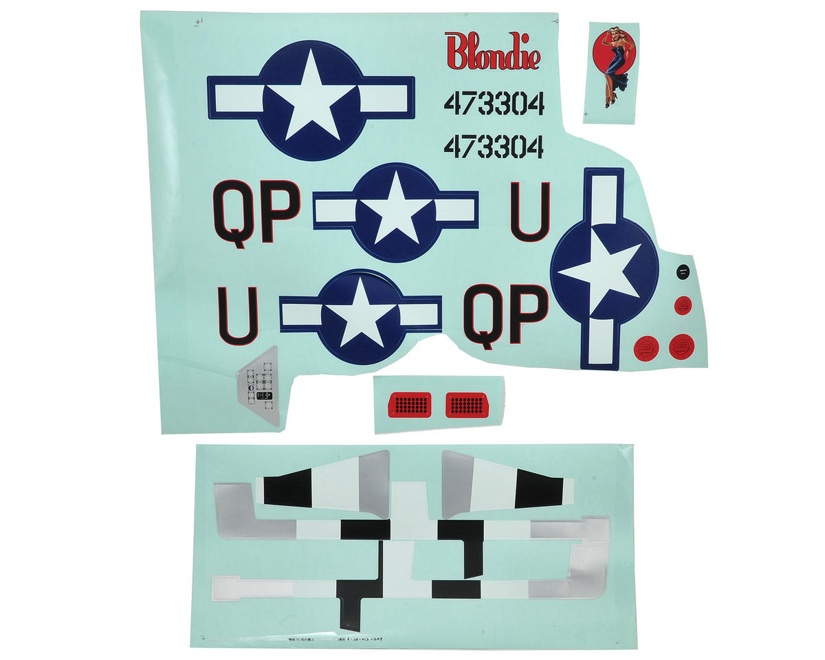 P-51D Mustang 1.2m Decal Sheet by E-flite