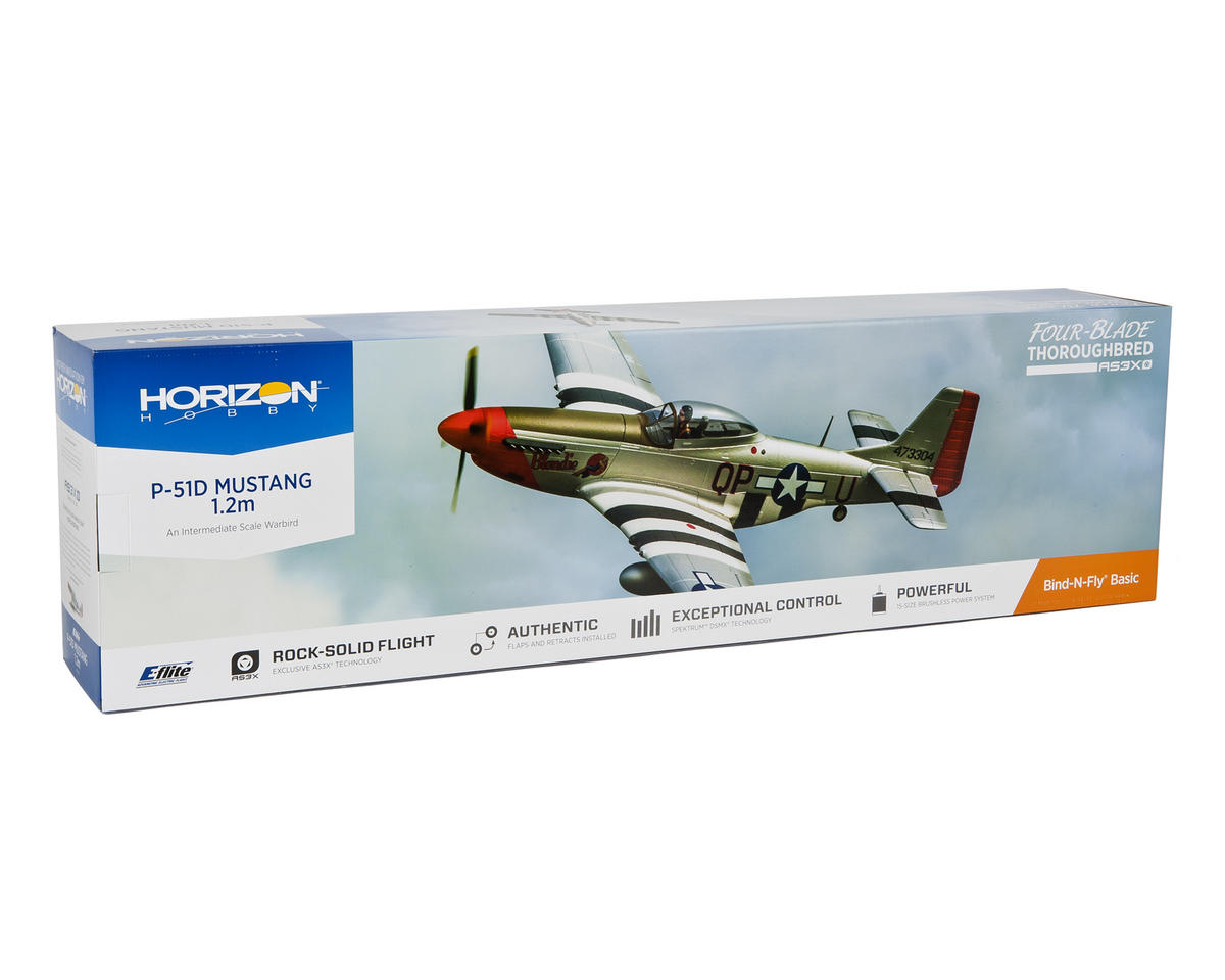 E-flite P-51D Mustang 1.2m Bind-N-Fly Basic Electric Airplane