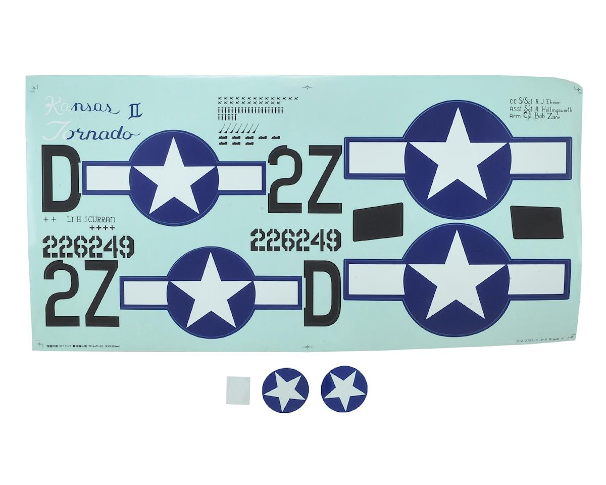 E-flite P-47D Razorback Decal Sheet