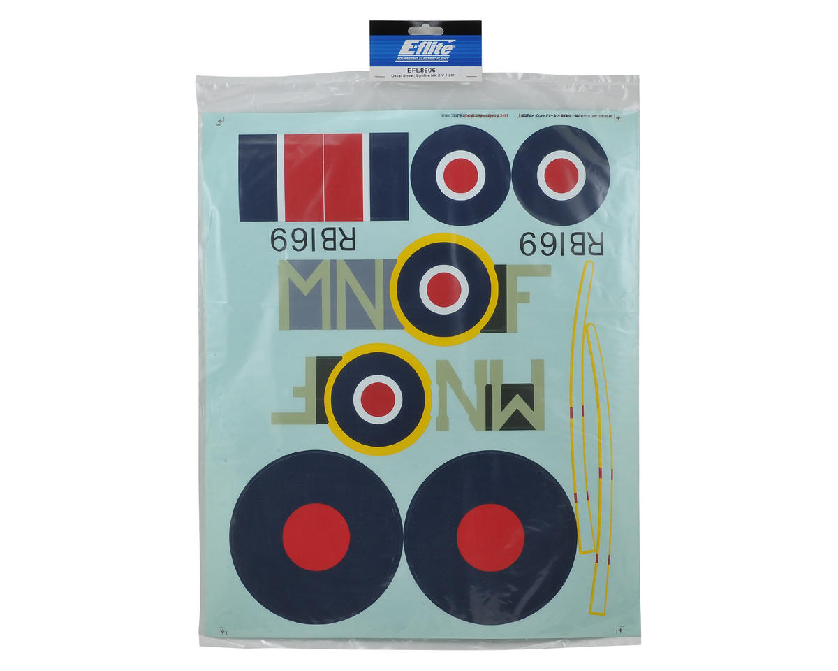 E-flite Spitfire Mk XIV Decal Sheet