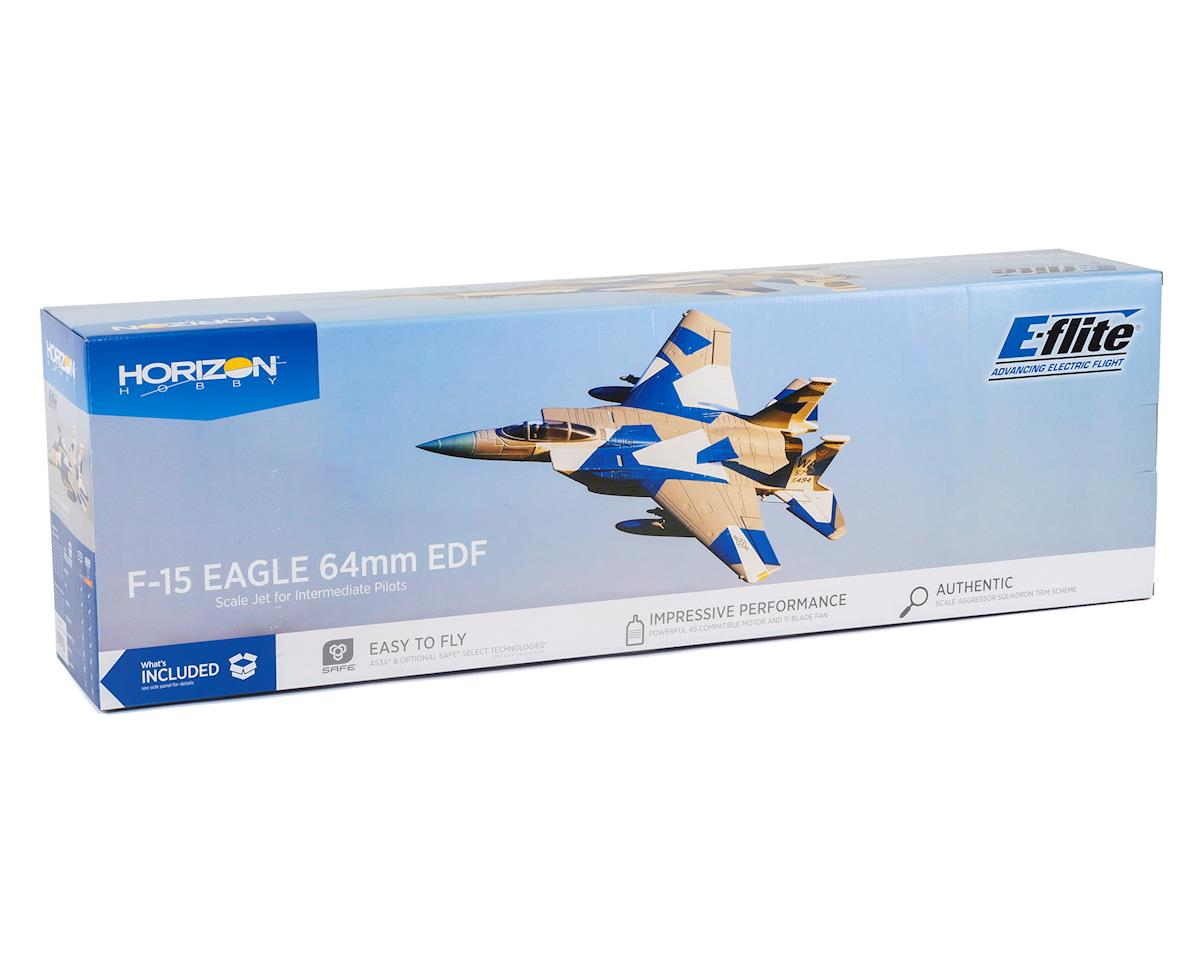 E-flite F-15 Eagle 64mm EDF PNP Electric Ducted Fan Jet Airplane (715mm)