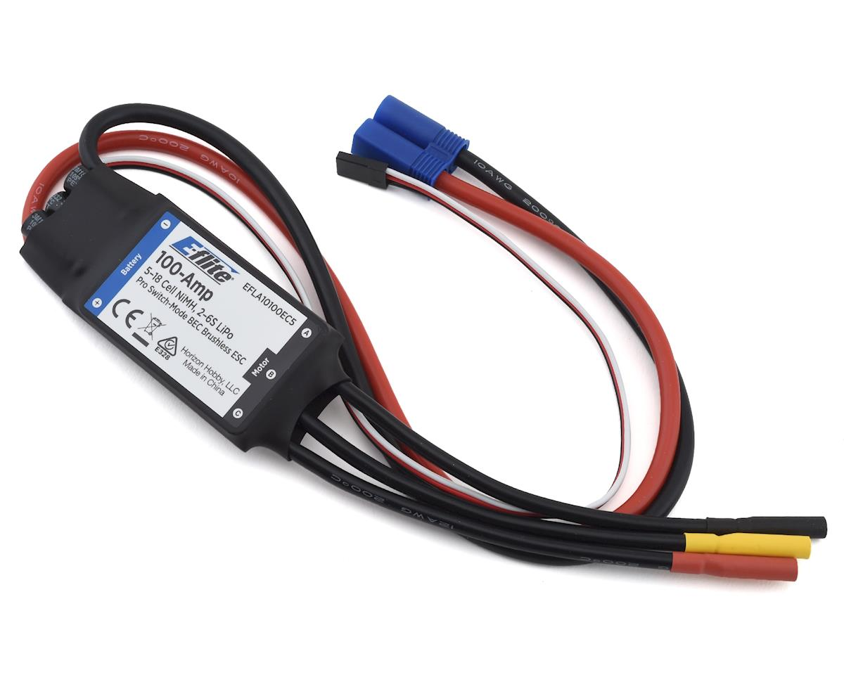 E-flite 100-Amp Pro Switch-Mode 5A BEC Brushless ESC
