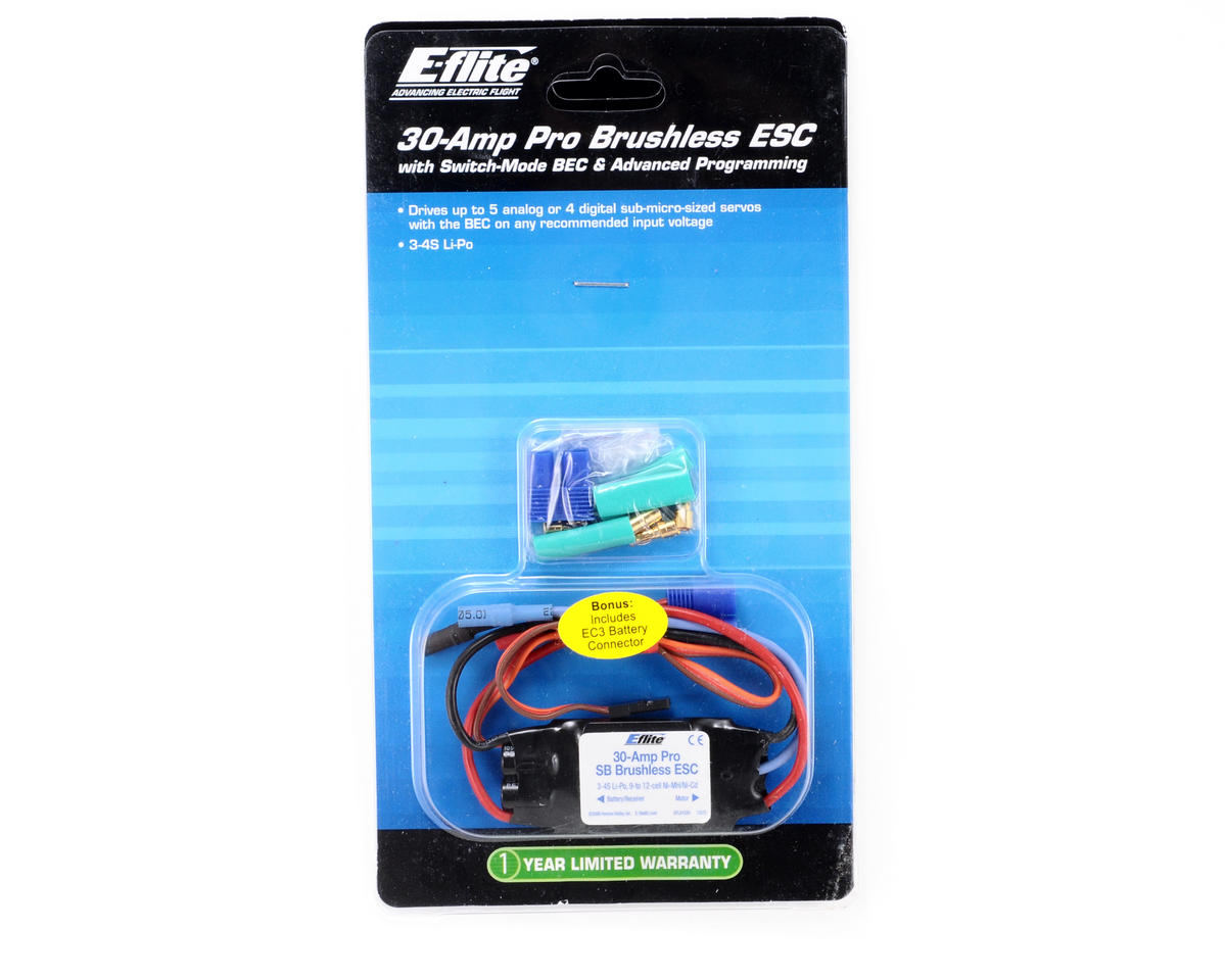 E-flite 30-Amp Pro SB Brushless ESC