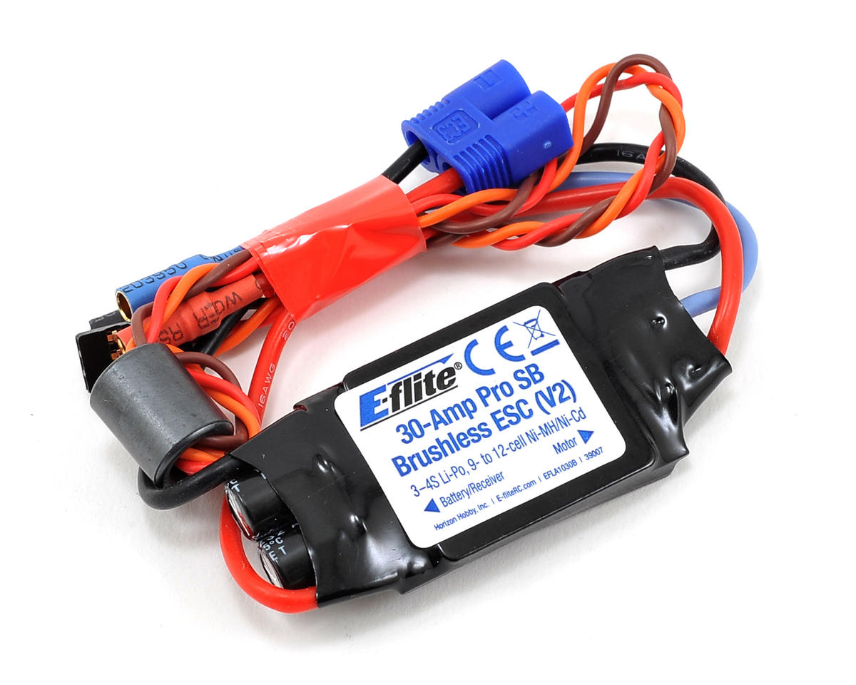 E-flite P-47D Thunderbolt 30-Amp Pro Switch-Mode BEC Brushless ESC (V2)