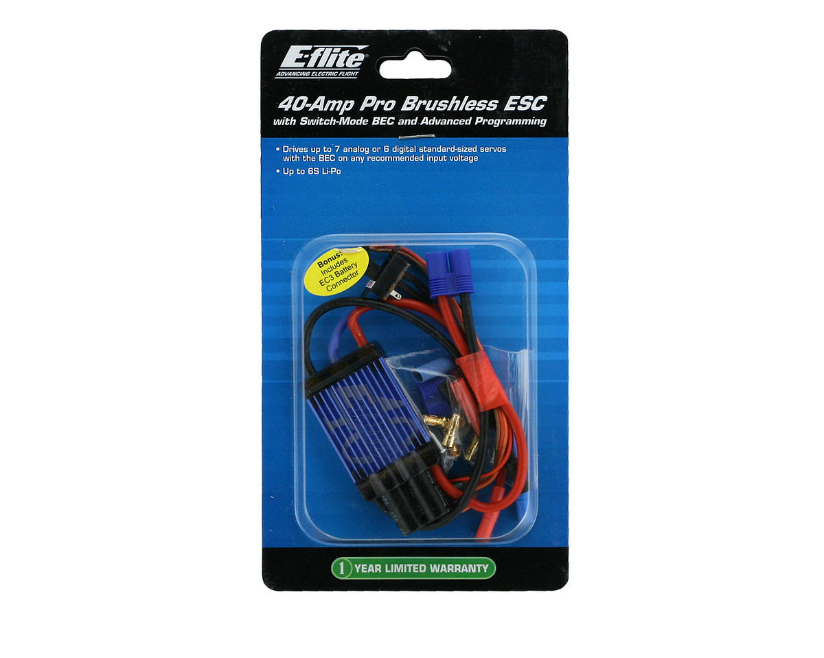 E-flite 40A Pro Switch-Mode BEC Brushless ESC