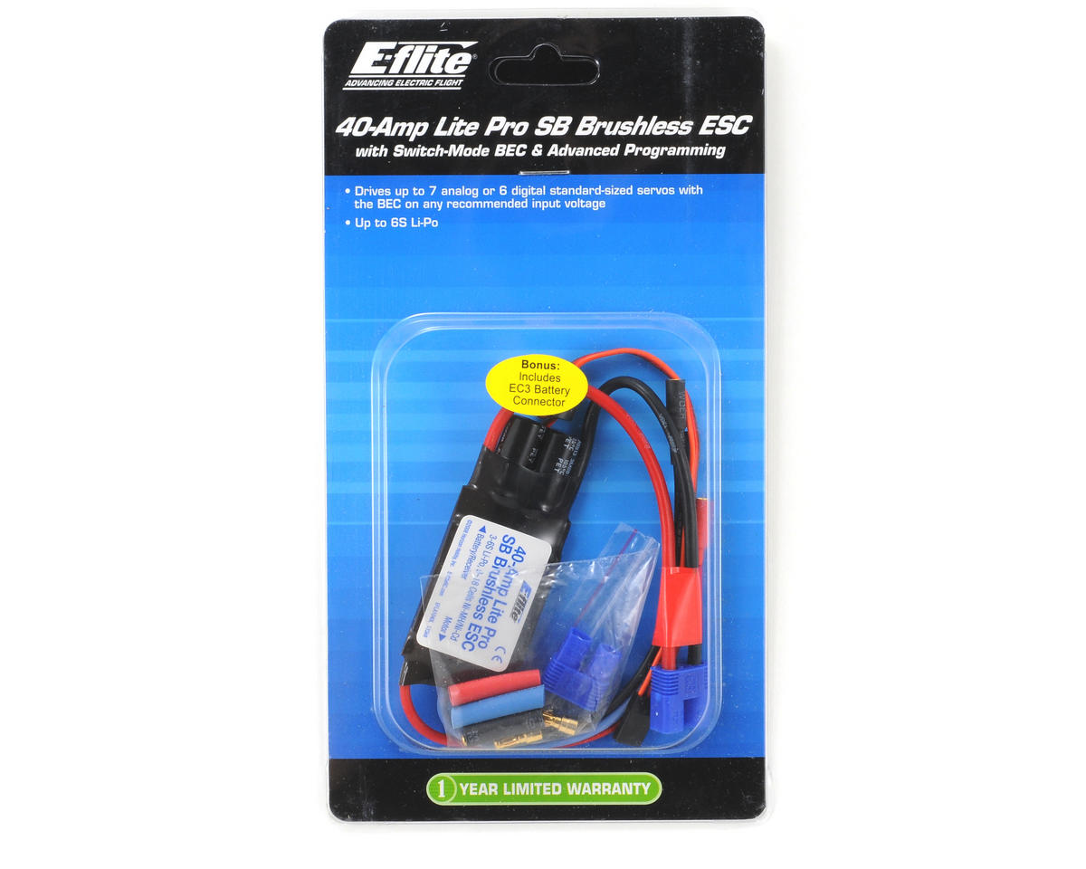 E-flite 40-Amp Lite Pro Switch-Mode Brushless ESC w/BEC