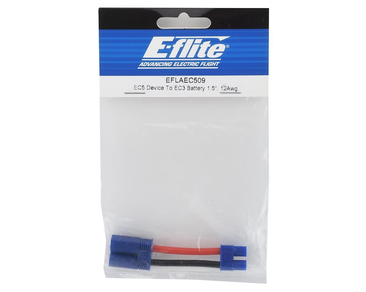 E-flite EC5 to EC3 Connector Adapter (12AWG) (EC5 Male to EC3 Female)
