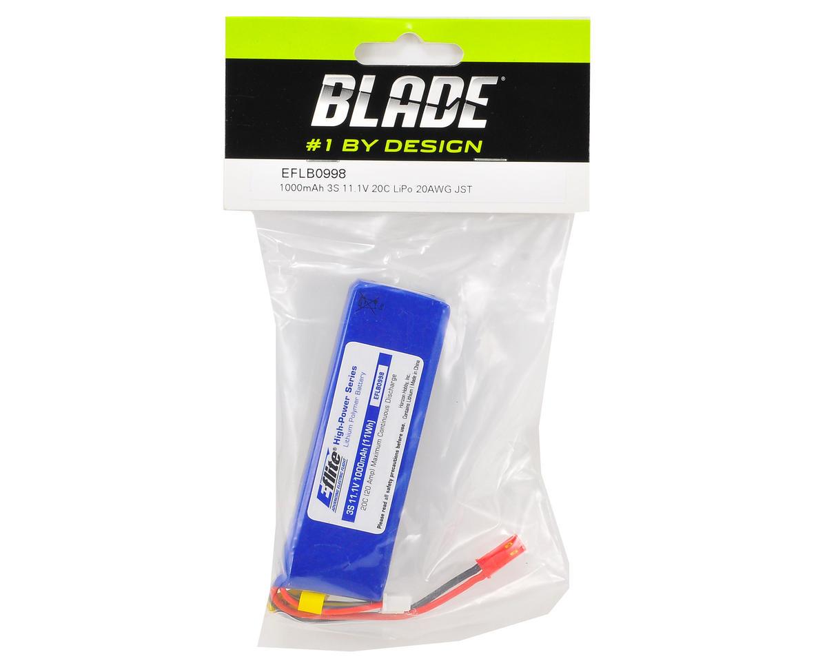 E-flite 3S LiPo Battery Pack w/JST Connector 20C (11.1V/1000mAh)