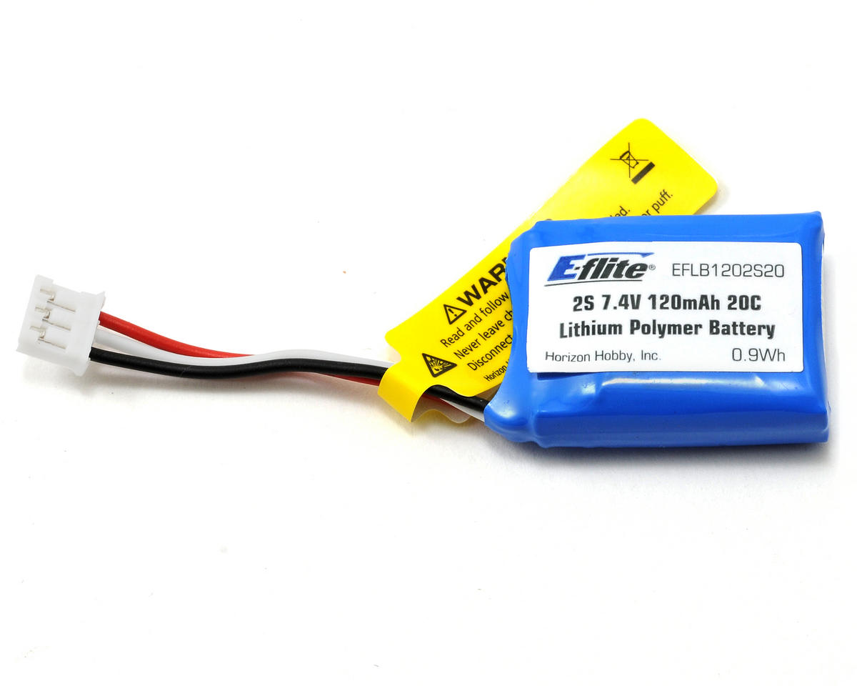 E-flite 2S LiPo Battery Pack 20C (7.4V/120mAh)