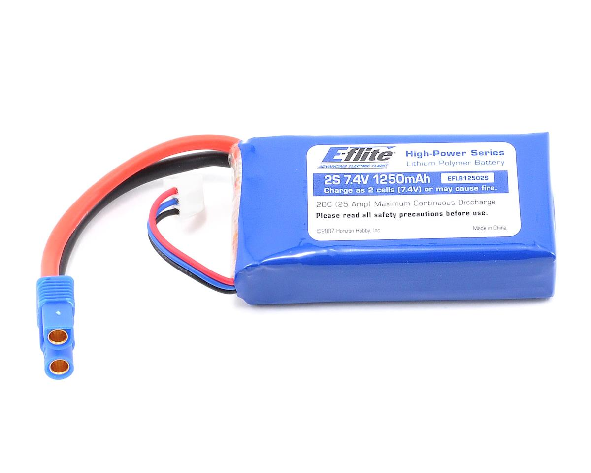 2S Li-Poly Battery Pack 20C (7.4V/1250mAh) by E-flite
