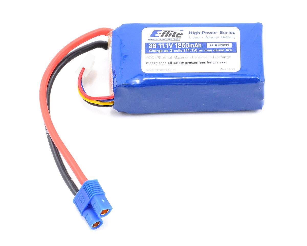 E-flite 3S Li-Poly Battery 20C (11.1V/1250mAh)