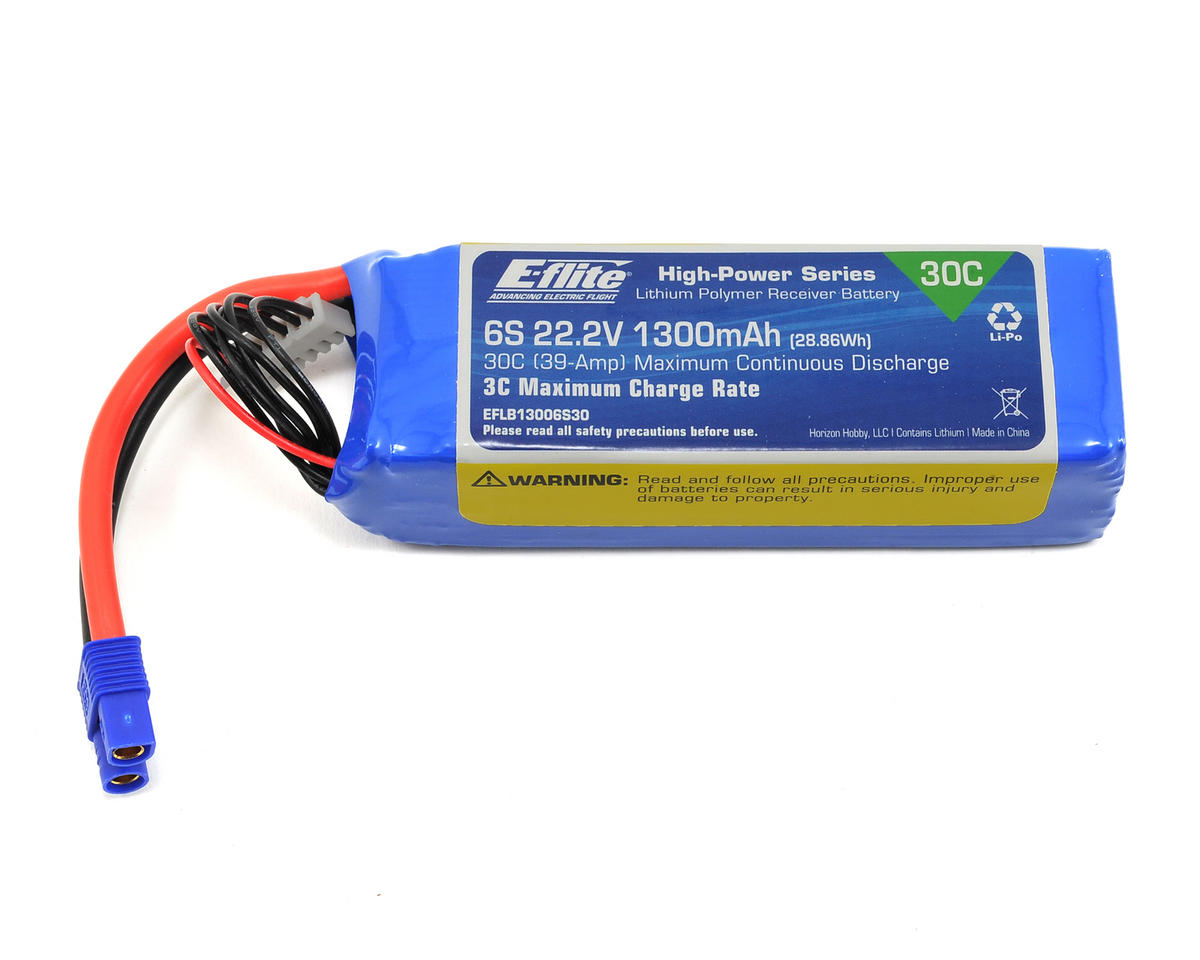 E-flite 6S LiPo Battery Pack 30C (22.2V/1300mAh)