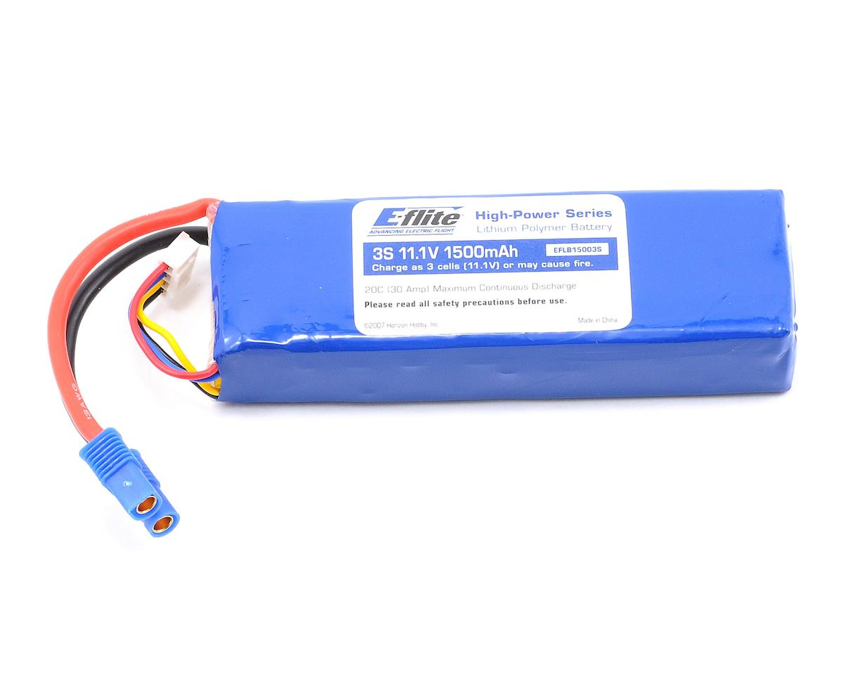 3S Li-Poly Battery 20C (11.1V/1500mAh) by E-flite