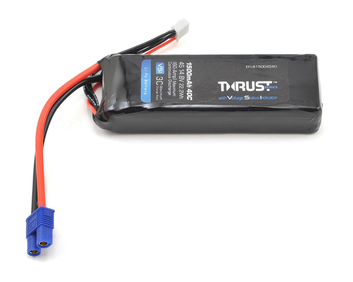 E-flite Thrust VSI 4S 40C LiPo Battery Pack (14.8V/1500mAh) (EC3)