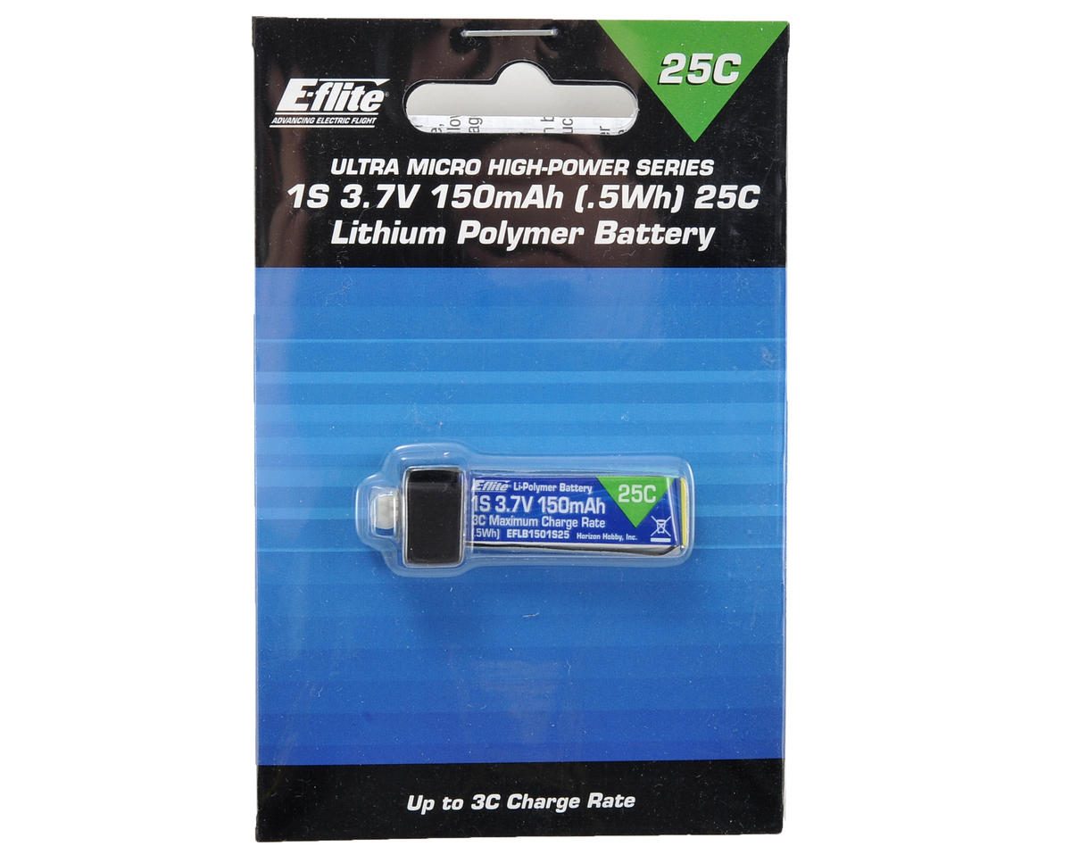 E-flite 1S LiPo Battery Pack 25C (3.7V/150mAh)