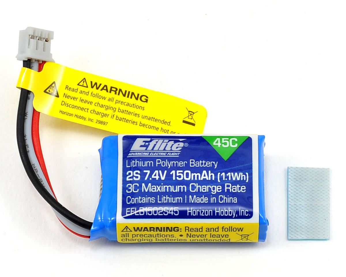 E-flite 2S LiPo Battery Pack 45C (7.4V/150mAh)