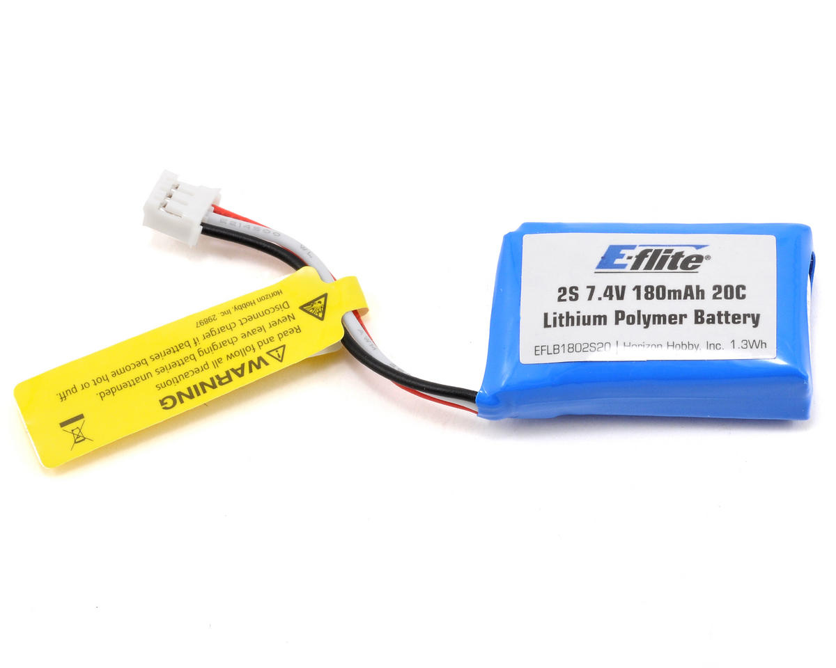 E-flite 2S LiPo Battery Pack 20C (7.4V/180mAh)